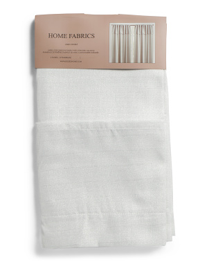 54x96 Set Of 2 Faux Linen Curtains With Valance
