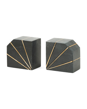 Marble Bookends Set