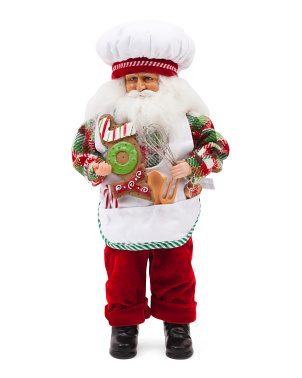 15in Fresh Cookies Santa Decor