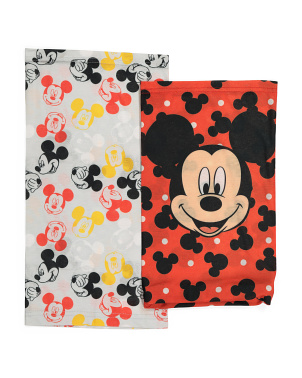 Kids 2pk Mickey Mouse Neck Gaiters