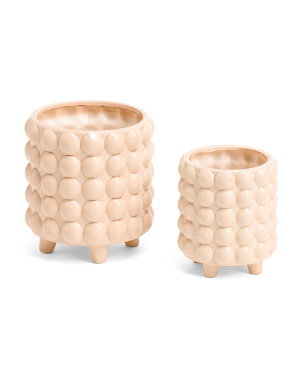 Set Of 2 Ceramic Planters