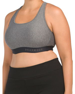 Plus Mid Cross Back Heather Sports Bra