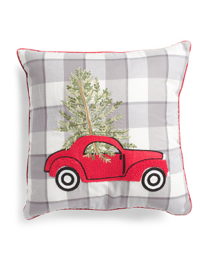 19x19 Christmas Car Pillow