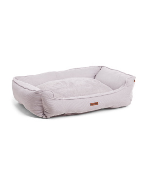 Large Upholstered Corduroy Cuddler Pet Bed