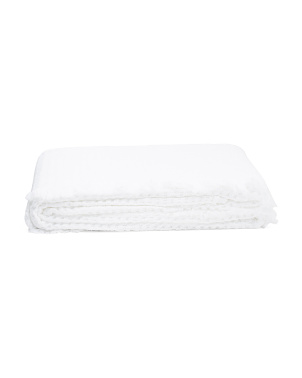 Made In Portugal Waffle Frayed Edge Coverlet