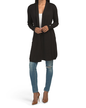 Long Sleeve Button Cuff Duster