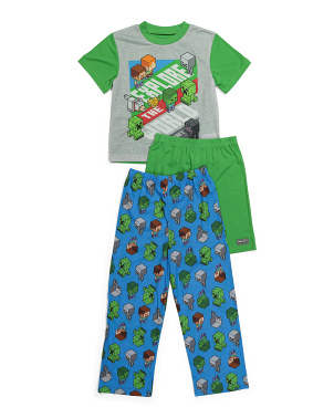 Boys 3pc Minecraft Sleep Set