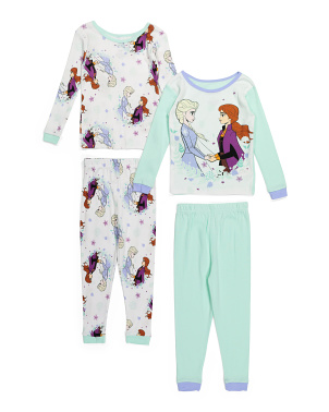 Girls Frozen 4pc Sleep Set