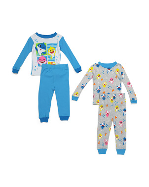 Infant Boys 4pc Baby Shark Sleep Set