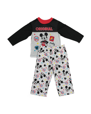 Toddler Boys 2pc Microfleece Sleep Set