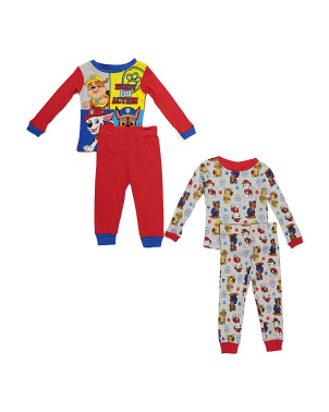 Toddler Boys 4pc Paw Patrol Sleep Set