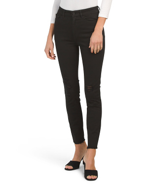 High Rise Instasculpt Distressed Skinny Jeans