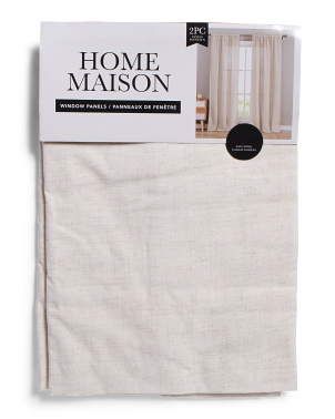 52x84 Set Of 2 Bailey Linen Look Curtains