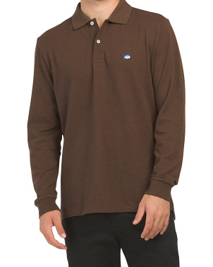Long Sleeve Heather Skipjack Polo