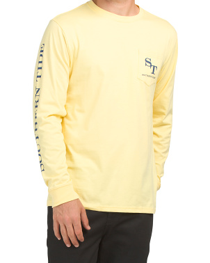 Long Sleeve Outline Skipjack Tee