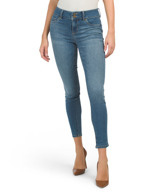 High Waisted 2 Button Skinny Jeans