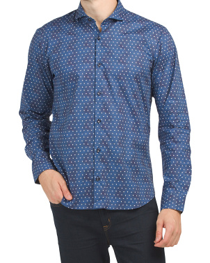 Trim Fit Micro Paisley Shirt