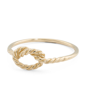Made In Italy 14k Gold Twisted Love Knot Ring
