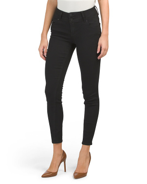 High Waisted Recycled Triple Button Skinny Jeans