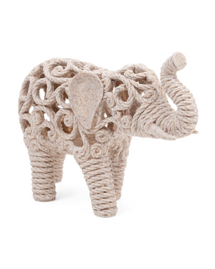 Pierced Elephant Tabletop Decor