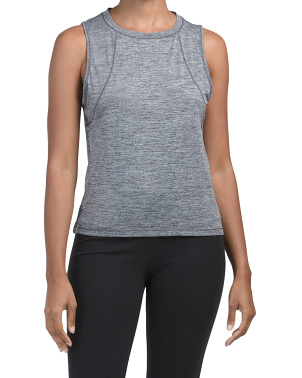 Throwback Marled Logo Soft Crop Tank