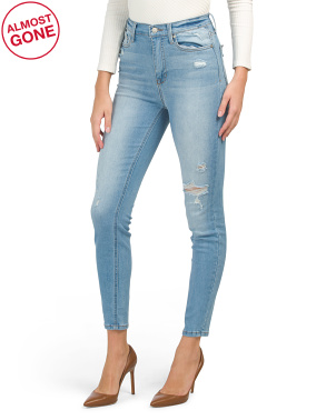 Juniors Ankle Skinny High Rise Jeans