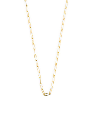 Made In Turkey 14k Gold Paperclip Chain Necklace