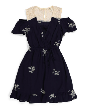 Big Girls Embroidered Lace Dress