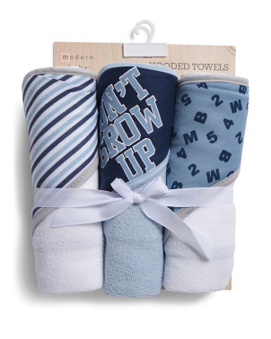 Baby 3pk Hooded Towels