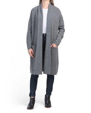 Amerie Shawl Collar Long Duster Cardigan