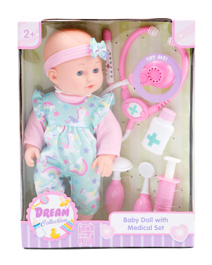 12in Baby Doll Medical Set
