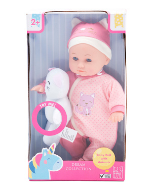 12in Baby Doll With Animal Sounds