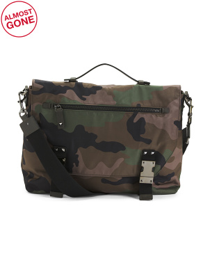 Made In Italy Nylon Camouflage Messenger Bag