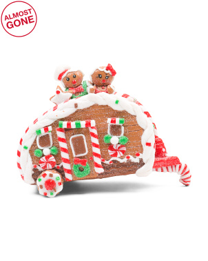 4.25in Gingerbread Camping Car Ornament