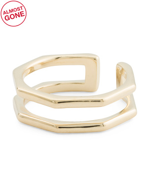 18k Gold Plated Octagon Ring