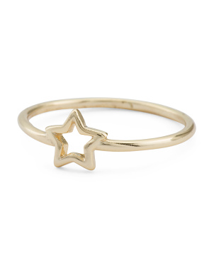 Made In Usa 18k Vermeil Star Ring