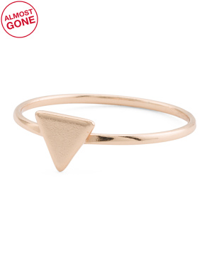 Made In Usa 18k Vermeil Arrow Ring