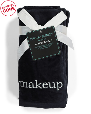 4pk Embroidered Makeup Towels