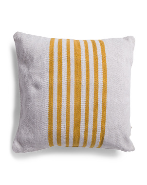 22x22 Striped Pillow
