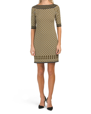Short Shift Matte Jersey Dress