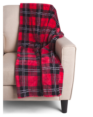 Penelope Plaid  Loft Fleece Throw