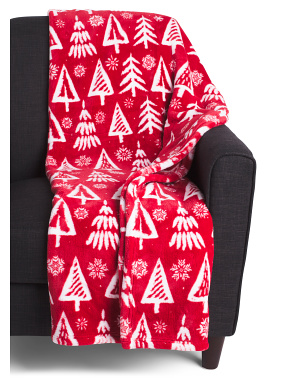 Christmas Tree Loft Fleece Throw