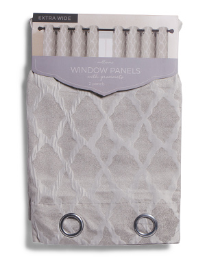 Set Of 2 54x84 Williams Crinkle Textured Curtains