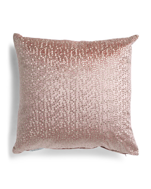24x24 Oversized Velvet Metallic Embroidered Pillow