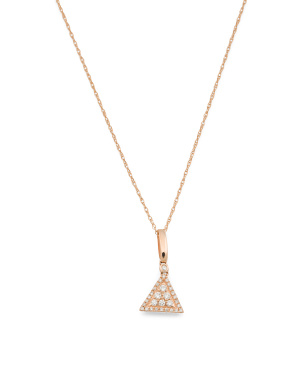 14k Rose Gold And Diamond Vintage Style Necklace