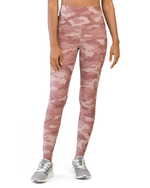 High Waist Serena Pocket Camo Leggings