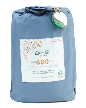 600tc Organic Sheet Set