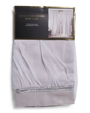 38x84 Set Of 2 Jewel Layered Thermal Black Out Curtains