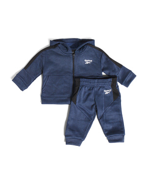 Infant Boy Fleece Zip Up Hoodie And Pant Set