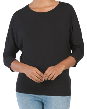 Scoop Neck Dolman Sleeve Top